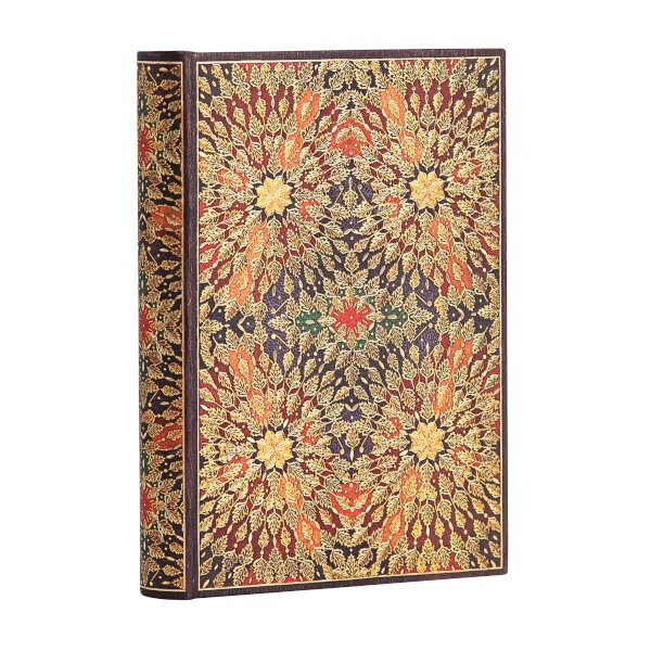 Notebook Mini Ruled, Fire Flowers